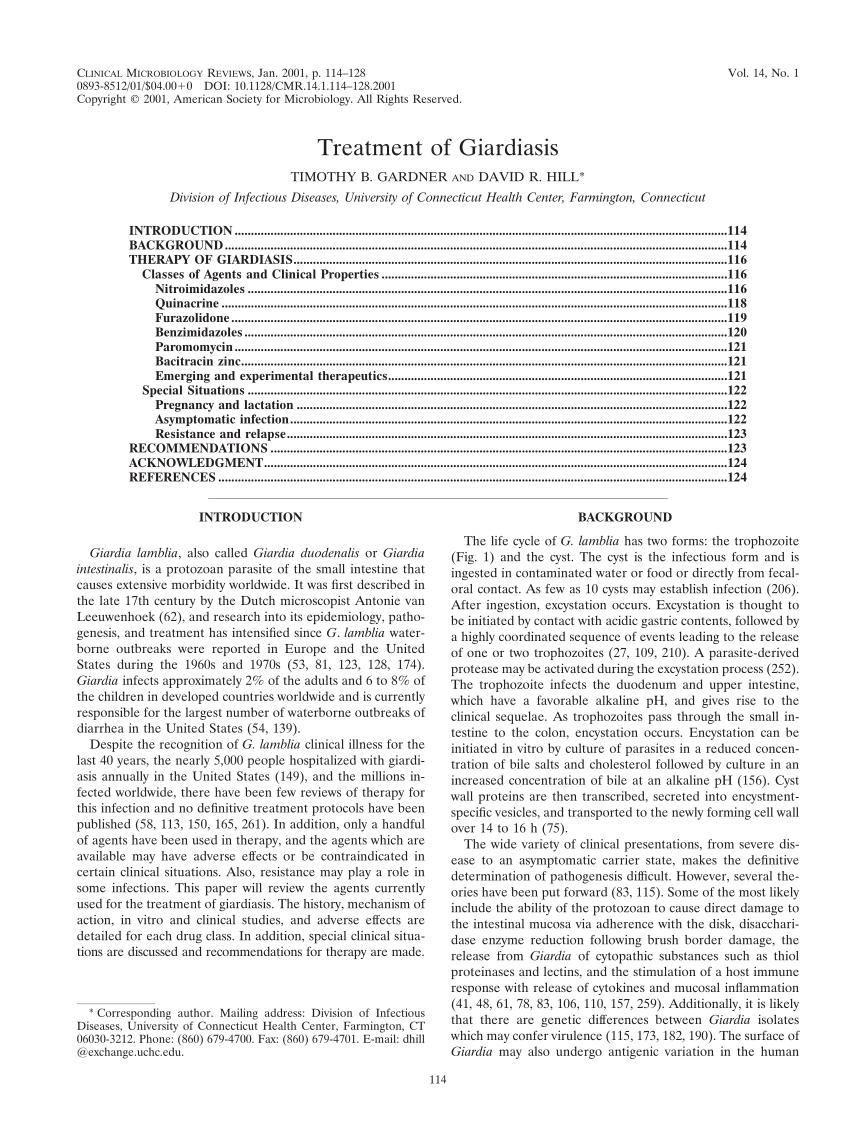 A giardiasis modern kezelése, A máj tünetei giardiasis