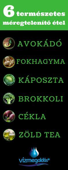 ajánlott ételeket a méregtelenítéshez