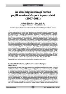 humán papillomavírus irányelvek