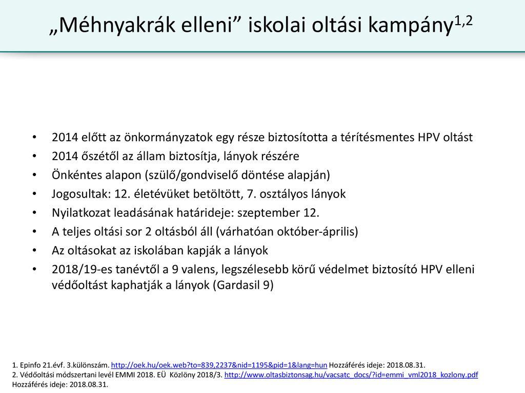 valens emberi papillomavírus hpv vakcina)