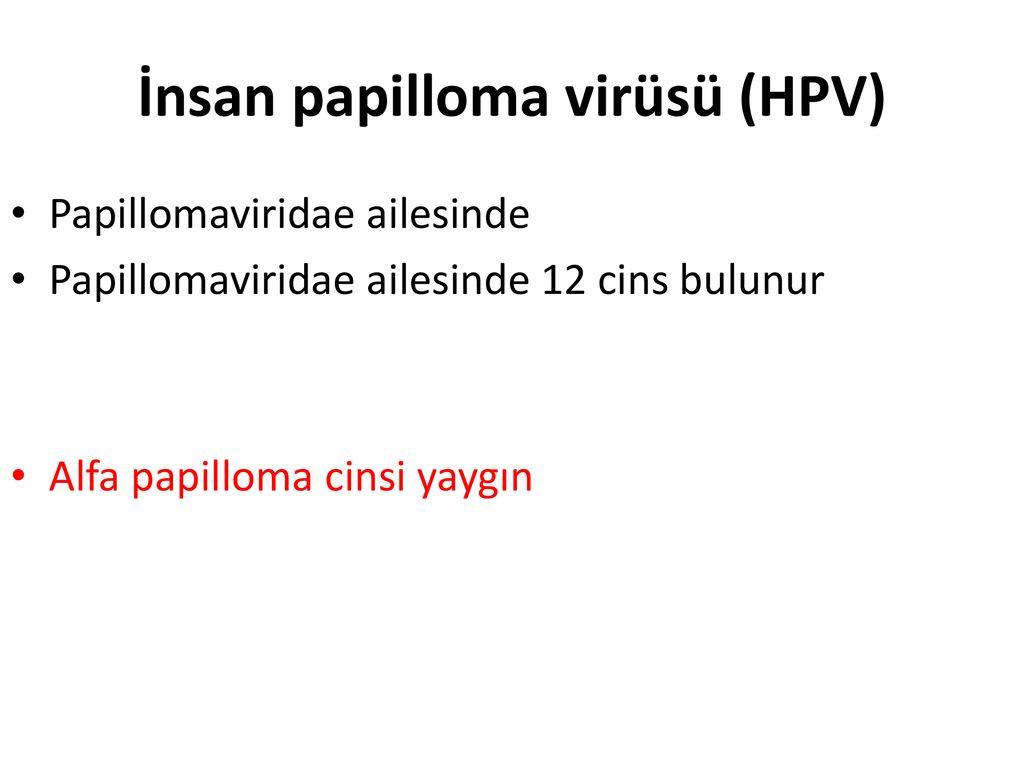 hpv tedavisi ppt