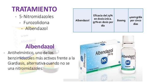 giardiasis albendazol