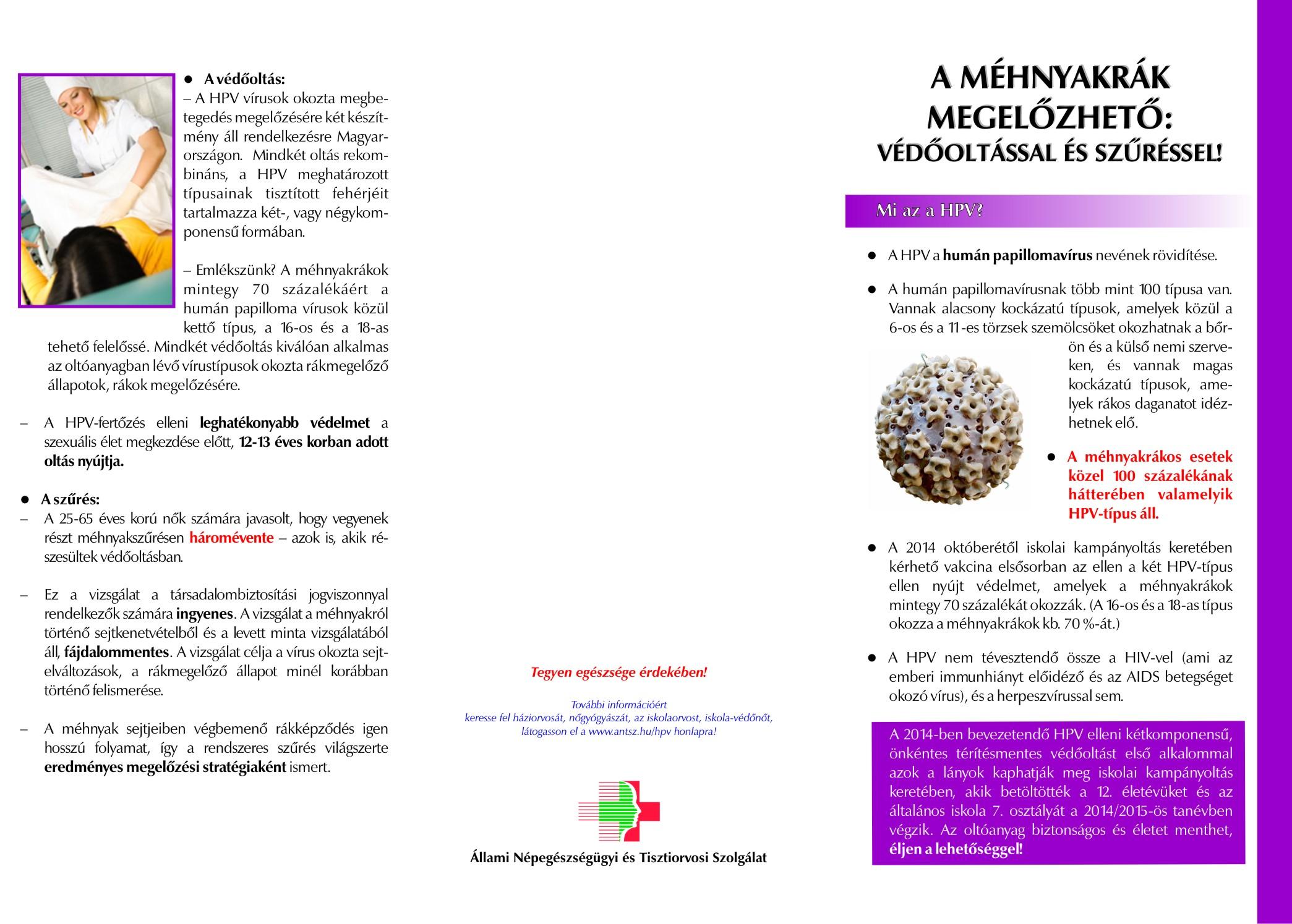 emberi papilloma vírus elleni védelem