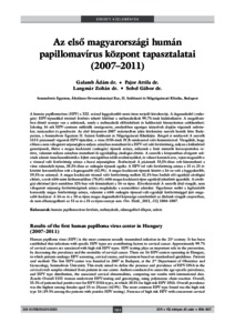 hpv magas kockázatú genotípusok)